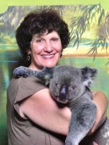 Pam with a koala